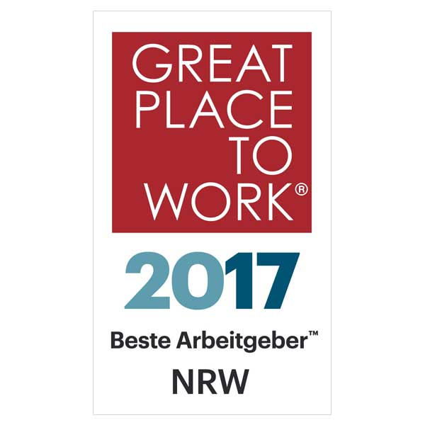 Great Place to Work 2017 Beste Arbeitgeber NRW